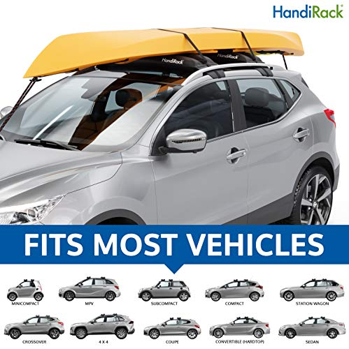 (HandiRack - Universal Inflatable roof rack bars (Black) - FREE TIE DOWNS INCLUDED - Fits most cars and SUVS )