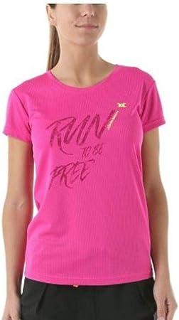 John Smith Camiseta Técnica Running para Mujer Manga Corta Procida. Rosa flúor. Talla XS