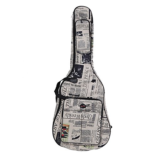 Angelwing Guitar Bag Oxford Cloth Gig Guitar Carrying Case 600D Water Resistant - Versace Fake China