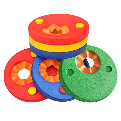Sopear 6 PCS Kids Toddlers Swimming Aid Wings Rings Swim Floating Discs Arm Bands for Kids Boys Girls Toddlers 0-10 Years Old