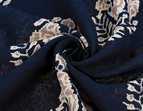 CRAVOG Damen Strandkleid Sommerkleid Minikleider Rundhalsausschnitt Partykleider