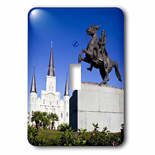 3dRose LLC lsp_90490_1 La New Orleans St Louis Cathedral Statue Us19 Wbi0131 Walter Bibikow Single Toggle Switch