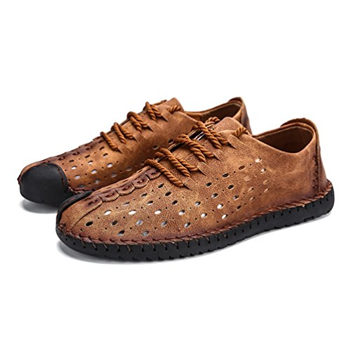 Moda Zapatos Cuero Mocasines Hombres De Summer De Zapatos Lace Verano De Goden nIYwIXq1x4