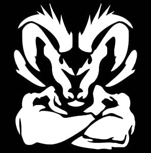 Amazoncom dodge ram muscle tough decal white automotive for Kitchen colors with white cabinets with muscle car stickers