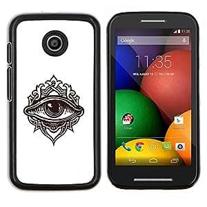 - Detailed Eye Illustration/ Duro Snap en el tel????fono celular de la cubierta - Cao - For Motorola Moto E (1st Gen, 2014)
