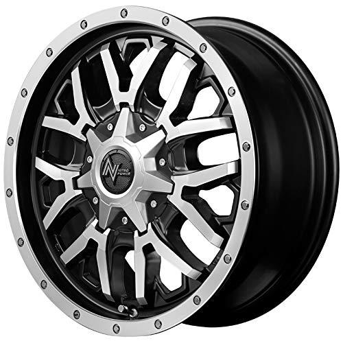 【デリカD5用】 サマータイヤホイール4本セット 225/70R16 ヨコハマ ジオランダー SUV G055 ナイトロパワー グレネード セミグロスブラック+フランジディスクポリッシュ B07R7G8T86