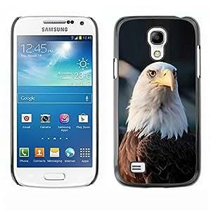 Águila calva Nacional Símbolo estadounidense- Metal de aluminio y de plástico duro Caja del teléfono - Negro - Samsung Galaxy S4 Mini i9190 (NOT S4)