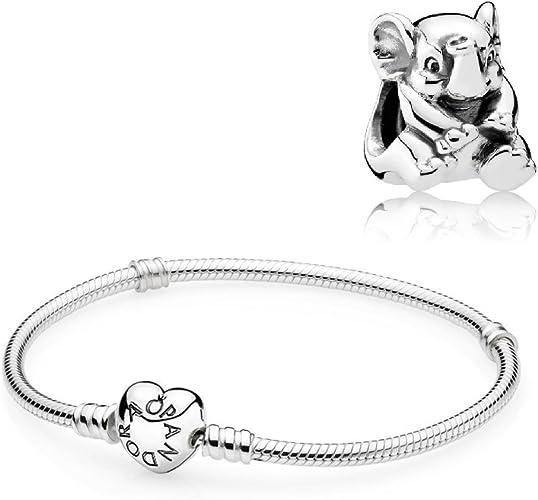Pandora Coffret cadeau – 1 bracelet en argent avec fermoir cœur ...