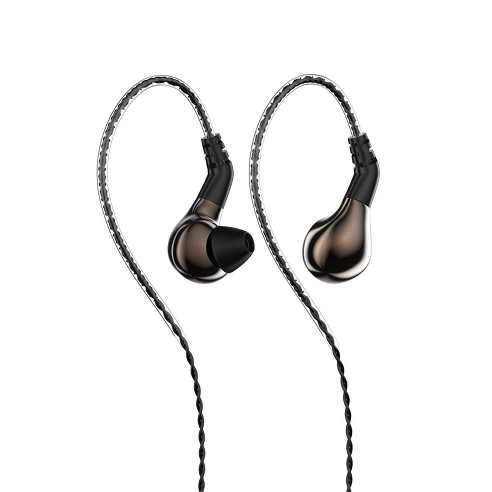 BLON BL-03 Earphones Yinyoo Blon 03 Hearphones Bass in-Ear Earphones Earbuds with 10mm Carbon Diaphragm Dynamic Driver and Detachable 2pins 0.78mm Cable Brown Without mic
