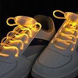 Paire de Lacets Lumineux Clignotants et Equipés de LED de Couleur Orange