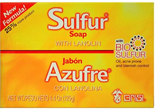 Grisi Bio Sulfur Soap with Lanolin, 4.4 oz Pack of 12