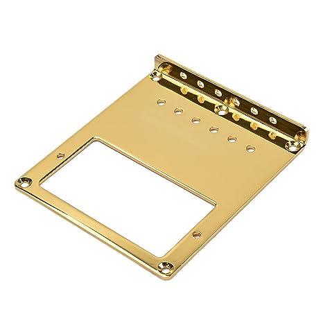 Healifty Placa de puente de guitarra de carga superior de acero para Fender Telecaster TL Reemplazo