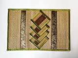 Handmade Reed Wicker Place mat and coaster set, Uniquely Asian design handmade reed Wicker 4 place mats size 12