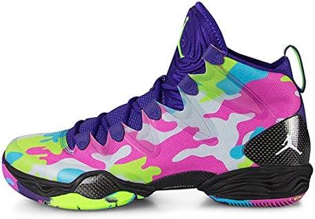 Elevado Interactuar Especial  Nike 'Air Jordan XX8 SE Bel Air' Retro Limited Edition Trainers - Multi 8.5  UK Purple: Amazon.co.uk: Shoes & Bags