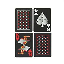 Copag Bridge Size EPOC Special Index Playing Cards, Red Black Setup