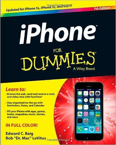 iPhone For Dummies: Edward C  Baig, Bob LeVitus