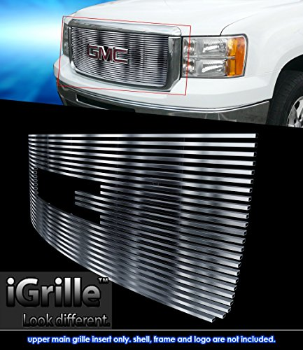 Stainless Steel eGrille Billet Grille Grill For 2007-2013 GMC Sierra Denali 1500 - Gmc Denali Grille Sierra Insert