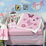 10 Piece Butterflies Breeze Baby Crib Nursery Bedding Set