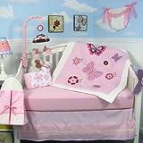 Soho Butterflies Breeze Baby 14 Piece Crib Nursery Bedding Set