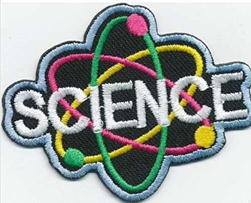 Cub Girl Boy SCIENCE Embroidered Iron-On Fun Patch 2 Crests Badge Scout - Cub Boy Scout Patch