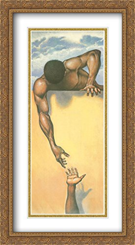 He Ain't Heavy 2x Matted 20x40 Large Gold Ornate Framed Art Print by Gilbert Young by ArtDirect