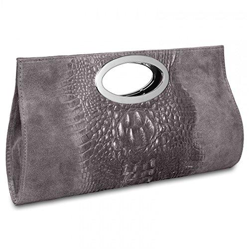 CASPAR Fashion - Cartera de mano para mujer - gris