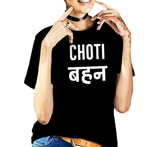 Giftix Choti Sis Printed in Hindi Personalized Black Cotton