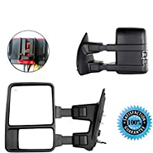 Scitoo Power Heated Passenger Side Mirror Smoke Clear Turn Signal Lights Right Towing Mirror For 2008-2016 Ford F250 F350 F450 F550 Super Duty