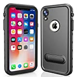 Redpepper iPhone XR Case Waterproof for iPhone XR Waterproof Case IP68 Redpepper Underwater 2m Life Shockproof TPU + PC Snowproof Case - Black