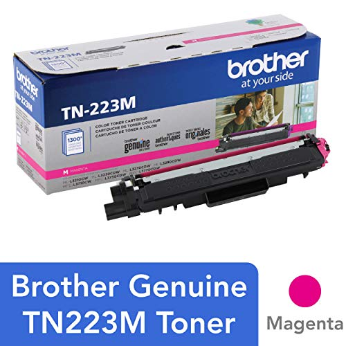 Brother Genuine TN223M, Standard Yield Toner Cartridge,  Replacement Magenta Toner, Page Yield Up to 1,300 Pages, TN223, Amazon Dash Replenishment Cartridge ()