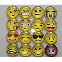 GeGewu 16 Pack Refrigerator Magnets, Emoji Magnets Fridge Magnets 3D Funny Cute for School Lockers Accessories Set, Perfect Home kitchen Decorative Magnet, Office Supplies for Presentation