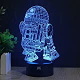 3D Lamp R2-D2 Table Night Light Force Awaken