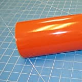 """12"""" x 10 Ft Roll of Glossy Oracal 651 Orange Vinyl for Craft Cutters and Vinyl Sign Cutters"""