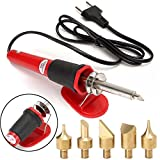 7pcs DIY Craft Woodburning Set Electric Soldering Iron Engraving Pen Kit AC 220-240V 30W