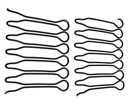 MANDI HOME 12 Pack Black Stretchable Invisible Hairclip Comb Shape Hairpin Pin Hair Band,DIY Hairstyles,Keep Hair In Place,Time-Saving Spin Pins,Hair Pins for Buns