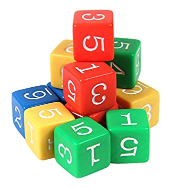 Toys & Hobbies Alphabet & Language 1 Red 1 Green And 4 White Dice Set Of 6 D6 16mm Educational Math Fraction Dice