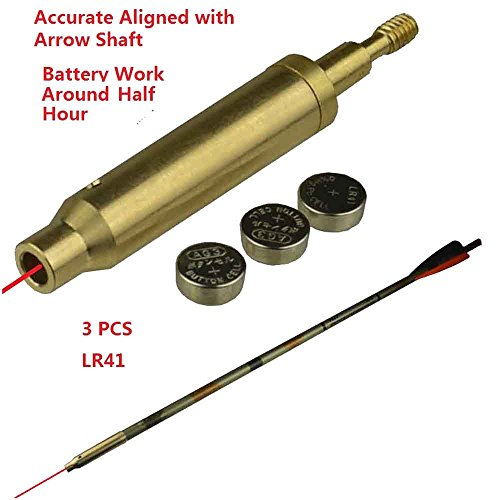 GRG Archery Laser Sight Tool for Bow and Crossbow, 223 Bore Sighter Shaped, Made of Brass, Self Color
