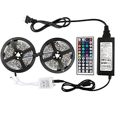 WenTop 10M-50-150-RGB-IP65+44K2+6AUS Waterproof LED Strip Lights Kit