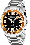 Stuhrling Original Men's 395.33I117 Aquadiver Regatta Champion Analog Swiss Quartz Silver Stainless Steel Link Bracelet Watch