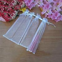 50pcs Elegant White Folding Silk Hand Fan with Organza Gift bag Wedding Gi H5E9
