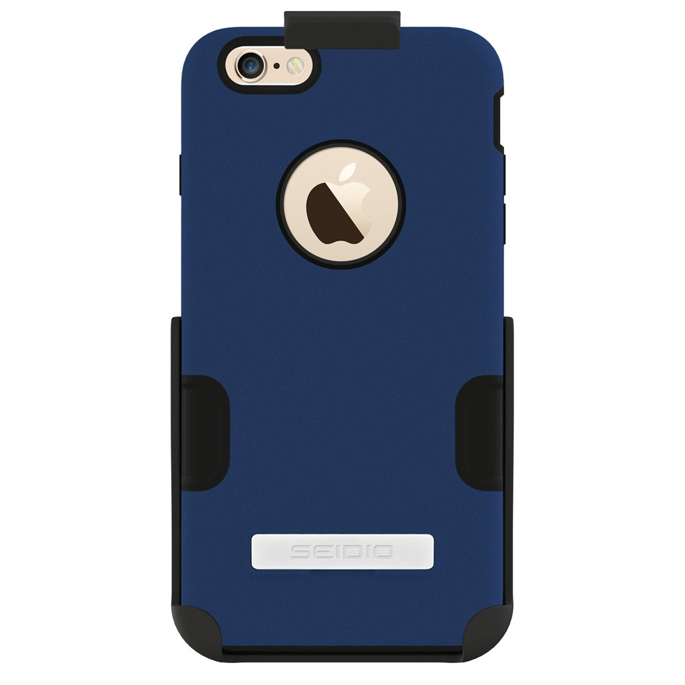 Seidio DILEX Case with Metal Kickstand and Holster Combo for Apple iPhone 6 Plus- Retail Packaging - Royal Blue by Seidio
