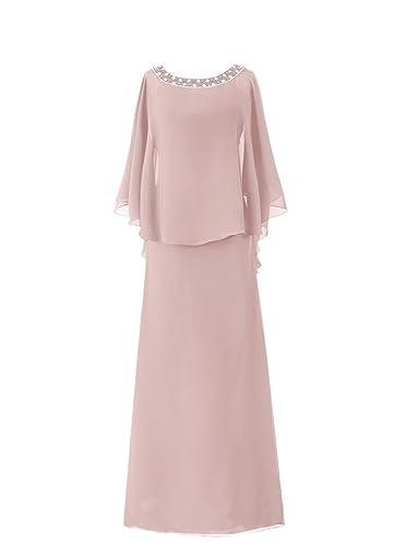 H.S.D Women's Cloak Flutter Sleeve Long Mother Of the Bride Dress