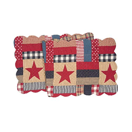 C&F Home Bennington Patriotic 4th of July Memorial Day Labor Day Americana Liberty Cotton Quilted Table Runner 14 x 51 Runner 14x51 Blue