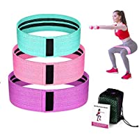 Resistance Bands for Legs and Butt,Exercise Bands Hip Bands Wide Booty Bands Workout Bands Sports Fitness Bands Stretch…