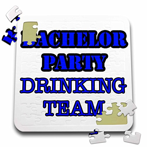 Stag,Bachelor Party - Bachelor Party Drinking Team Blue - 10x10 Inch Puzzle (pzl_261064_2) by 3dRose
