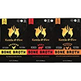 Bone Broth - Collagen & Gelatin Rich Bonebroth for Ketogenic Diet or Paleo Snack w Lion's Mane & 10g Protein. Gluten Free. Keto. Gut & Digestive Friendly Nutrition from Ancient Source (3-Sample Pack)