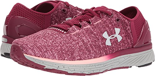 Under Armour Women's Charged Bandit 3 Running Shoe, Black Currant (923)/Pink Sands, 6