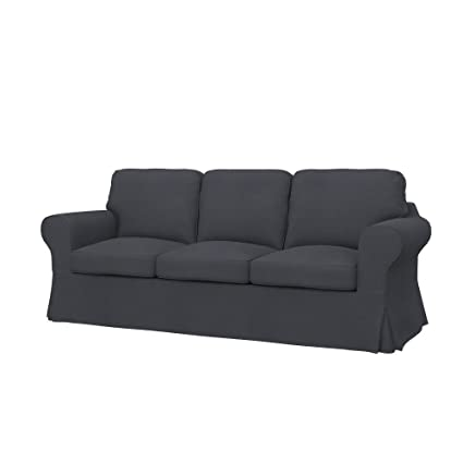 Incroyable Soferia   IKEA EKTORP 3 Seat Sofa Cover, Eco Leather Grey