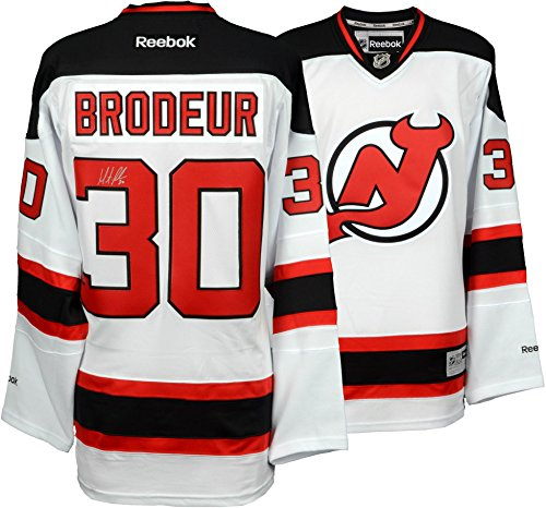 Martin Brodeur New Jersey Devils Autographed White Reebok Premier Jersey - Fanatics Authentic Certified - Martin Brodeur Memorabilia