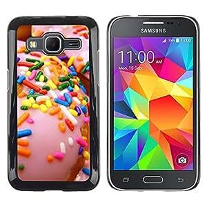 TopCaseStore / la caja del caucho duro de la cubierta de protección de la piel - Doughnut Pink Sweet - Samsung Galaxy Core Prime SM-G360